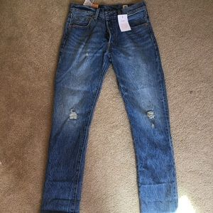Levi's 501 straight leg button fly